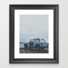 Mild colored truck Framed Art Print