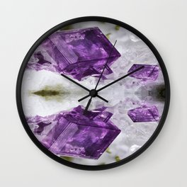 Amethyst Energy Wall Clock