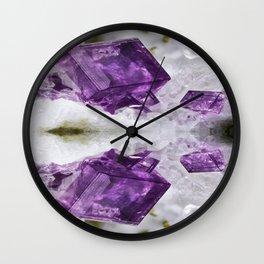 Amethyst Energy Wall Clock