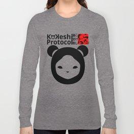 Kokeshi Protocol logo-001 Long Sleeve T-shirt