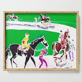 At the Races           by Kay Lipton Serving Tray