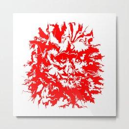 face11 red Metal Print