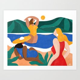 Girls of summer Art Print