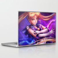 sailormoon Laptop & iPad Skins featuring Sailor Zoisite by Axsens