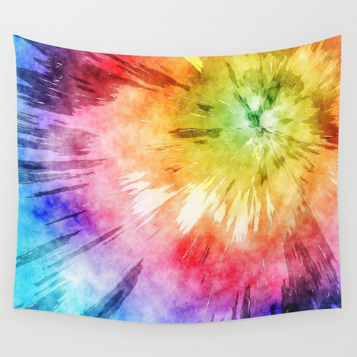 Tie Dye Watercolor Wall Tapestry by perkinsdesigns | Society6