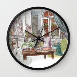 Will and Grace - Grace Adler Designs Studio Watercolor Painting Wall Clock