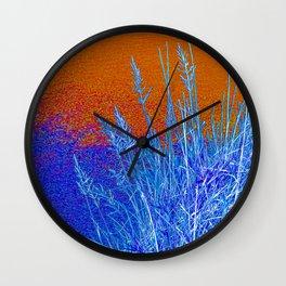 Blue Grass Red Wall Clock