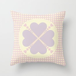Cute heart Throw Pillow