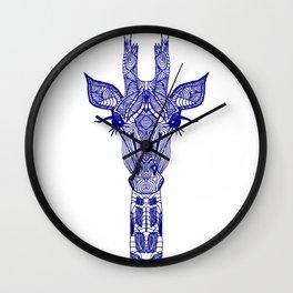 GIRAFFE BLUE Wall Clock