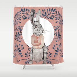 Loony Rabbit Shower Curtain