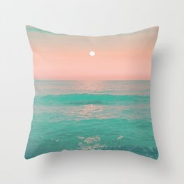 Light Pink Turquoise Waters Throw Pillow