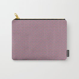 Red White and Blue Chevrons Carry-All Pouch