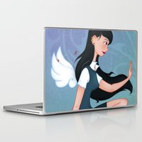 downton abbey Laptop & iPad Skins featuring Abbey by Katherine Galo