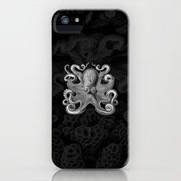 Octopus1 (Black & White, Square) iPhone Case