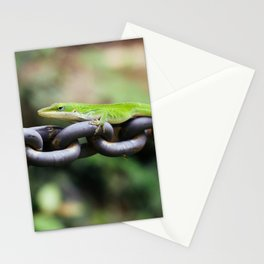 Anole on Chain I Stationery Cards