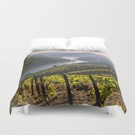 Vineyards along the Douro Valley, Portugal Duvet Cover