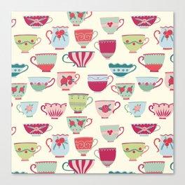 China Teacups Canvas Print