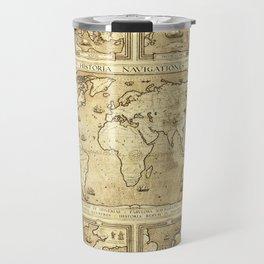 Vintage map of the World Travel Mug