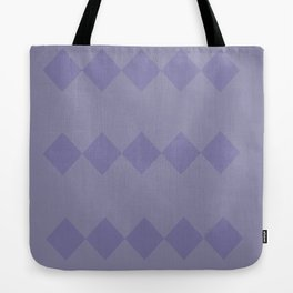 Purple Diamond Design Tote Bag