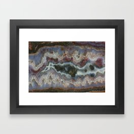 Cady Mountain Banded Agate Framed Art Print