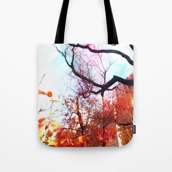 Color Blocked Tote Bag