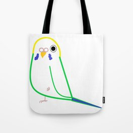 A Simple Parakeet Tote Bag