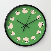 popeye Wall Clocks featuring 4menSmoking - Popeye by blaf