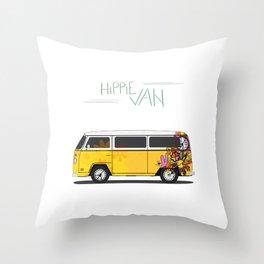Hippie Van Throw Pillow
