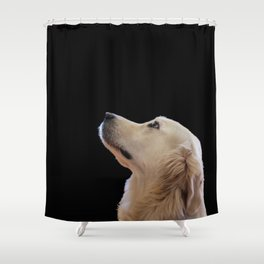 Man's Best Friend - Labrador Dog Portrait Shower Curtain
