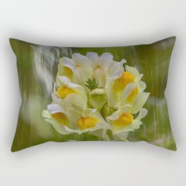 Yellow common Toadflax flower Rectangular Pillow