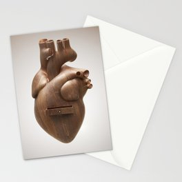 Heart made of wood with a drawer Stationery Cards