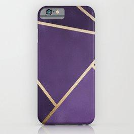 Beautiful Amethyst Gold Geometry Art iPhone Case