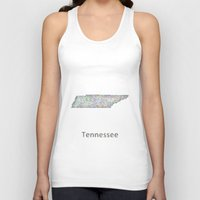 tennessee Tank Tops featuring Tennessee map by David Zydd