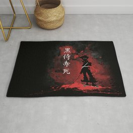 Black Samurai Red Death Rug