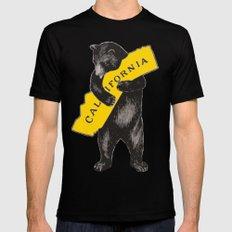 Vintage California Bear Mens Fitted Tee Black MEDIUM