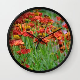 Lovely rudbeckia flower garden Wall Clock