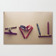 Children Love | I Love You Canvas Print