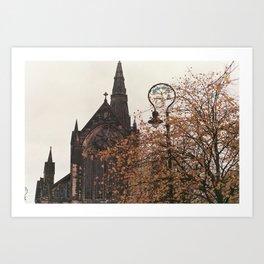 Glasgow in the Autumn Art Print