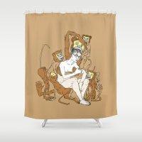 einstein Shower Curtains featuring Baby Einstein by Madmi