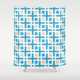 Square Islets - Moroccan Tile Pattern Shower Curtain