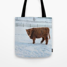 Are you looking at me, Scotish Highland Cow Tote Bag