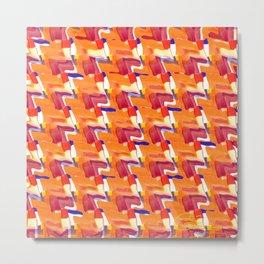 Oranja Plaid Metal Print