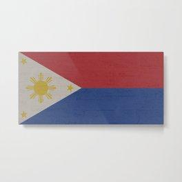Philippines Stone Wall Flag Metal Print