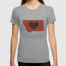 """I am in love with Montana"" - burnt orange T-shirt"