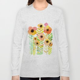 Peony field Long Sleeve T-shirt