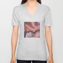 Pastel Cascade Abstract Unisex V-Neck
