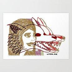 Triple She Wolf Art Print