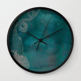 Mermaids circling Wall Clock