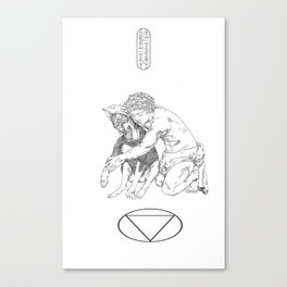 Duality of a Dog Canvas Print