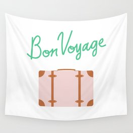 Bon Voyage \\ Suitcase Wall Tapestry